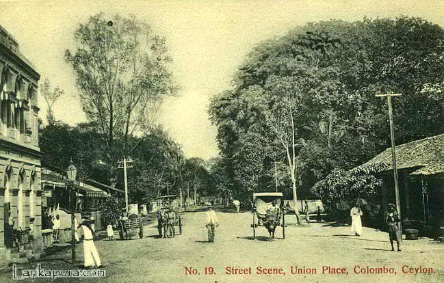 Early 1900 union place colombo ceylon