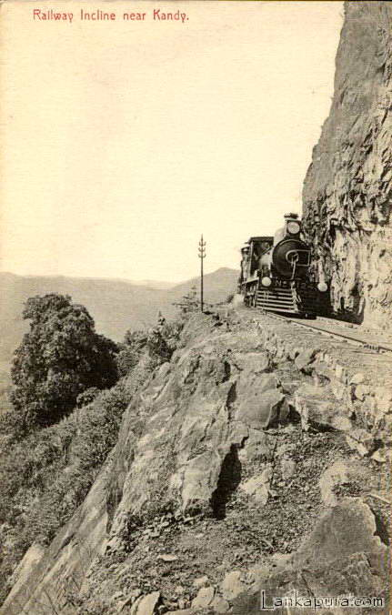 Train on Railroad Incline 1910 - Kadugannawa_ Ceylon.jpg