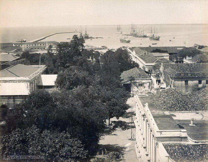 Harbour and Queens Street, Colombo 1885