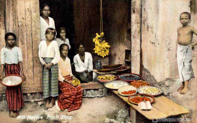 1909 colombo ceylon fruit market