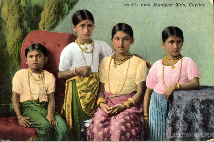 Four Kandyan girls - Ceylon.jpg