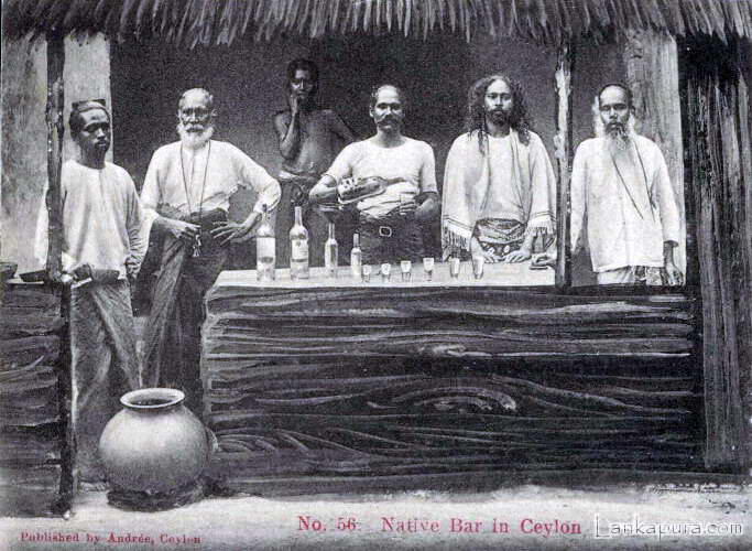 Native Bar with Native People Ceylon 1905