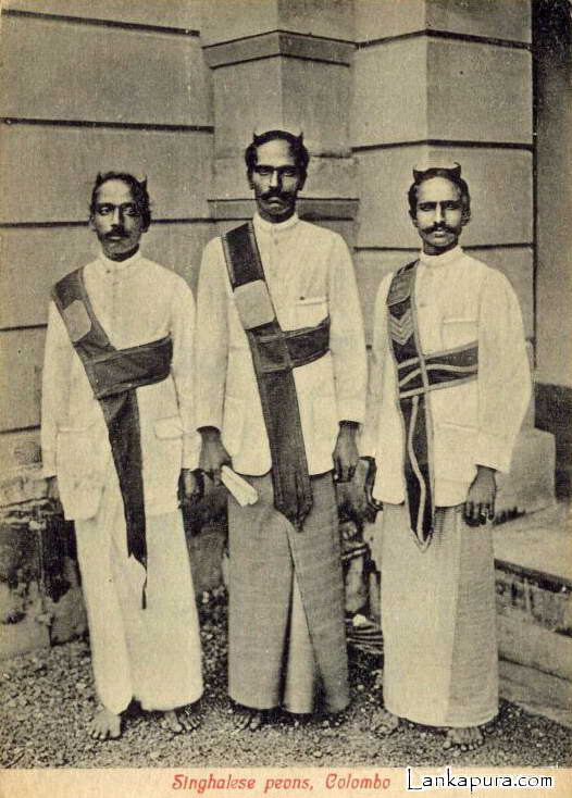 Native Singhalese Peons 1910 Ceylon Colombo