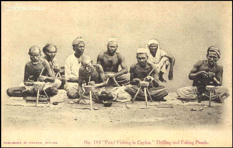 Pearl Drilling Fishing Ceylon 1909