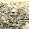 Temple of the Tooth at Kandy, Sri Lanka 1865