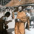Buddhist Priest with the Begging Bowl, Ceylon 1911