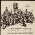Ceylon's Pageantry – Elephant parade 1955 travel print ad