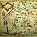 Early Map of Ceylon, Ceilan c.1623