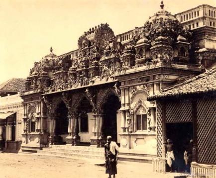 Hindu Temple, Colombo Ceylon c.1880