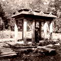 Ancient stone Pavilion at Anuradhapura, Ceylon 1908-1909