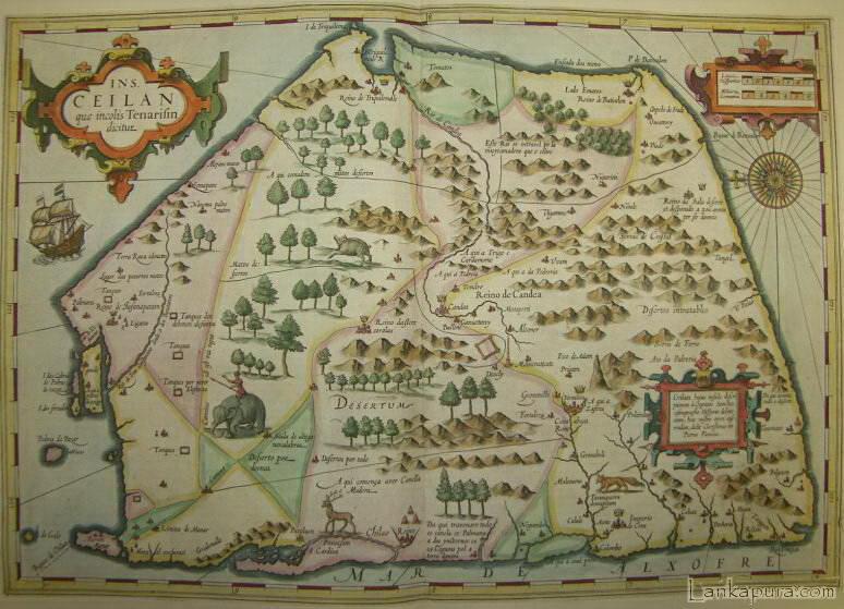 Early Map of Ceylon