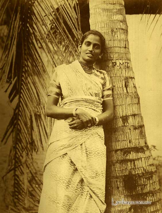 Portrait of a Tamil Woman, Ceylon