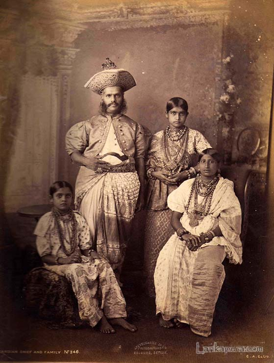 Kandy Chief and Family, Kandy, Ceylon