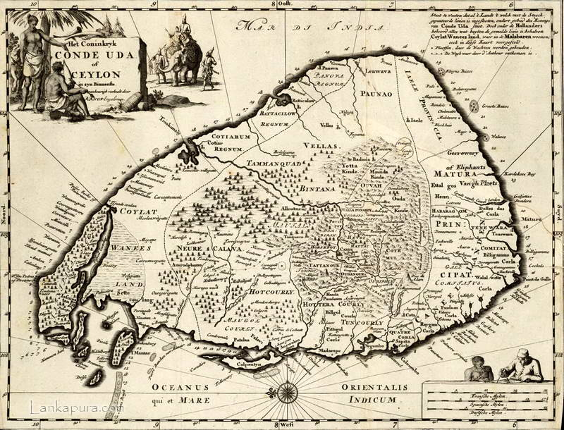 Early Map of Sri Lanka