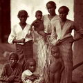 Native Family ,Woman & Children, Ceylon 1870