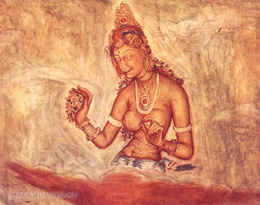 Photo collection of Arts,Sigiriya drawings in Sri Lanka