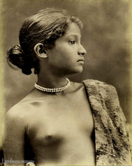 Sri Lankan Native Girl c.1890