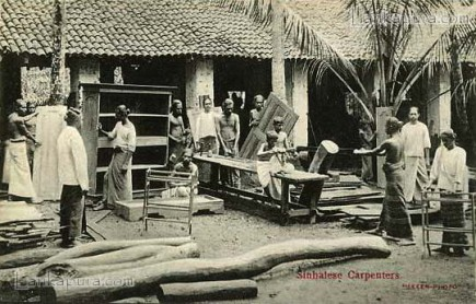 Sinhalese Carpenters Colombo Sri Lanka Early 1900