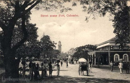 Queen street Colombo fort early 1900s
