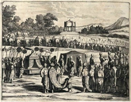 Funeral of the prince of Kandy in 1612