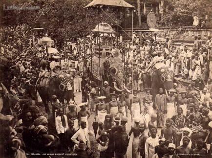 kandy perahera buddhist procession ceylon
