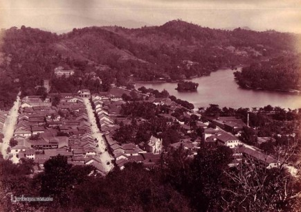 Kandy town Ceylon By Scowen