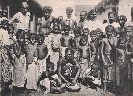 Group of Natives Early 1900s Sri Lanka