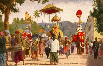 kandy perahera, Procession of the holy relic of the tooth ceylon