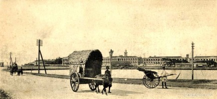 Rickshaw near Beire Lake, Colombo by Plate