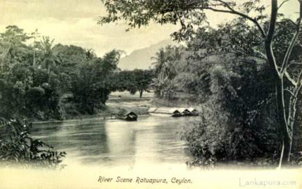 """River Scene Ratnapura """"Ratuapura"""" Ceylon"""