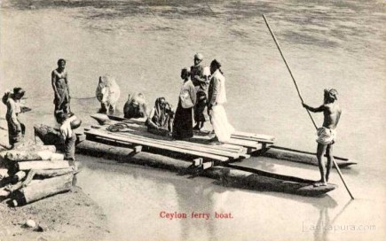 Native Ferry Boat Ceylon