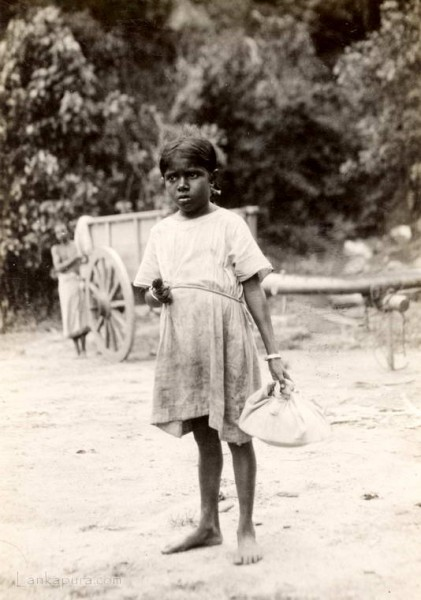 A young girl on the Kandy Road, Ceylon 1937