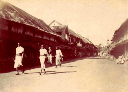 Colombo street view Ceylon 1890