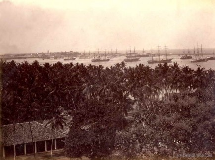 Colombo Harbour Ceylon 1880