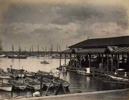 Colombo Harbor Jetty, Ceylon 1880