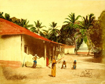 Dwelling of Buddhist priests, Ceylon
