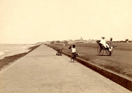 On the sea shore at Colombo, Ceylon
