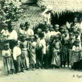A Typical road side group of natives, Ceylon