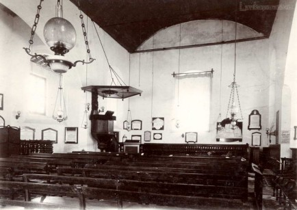 An interior of an old Dutch church in Galle, Ceylon