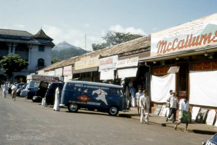 Road Scene Kandy town, Sri Lanka 1962