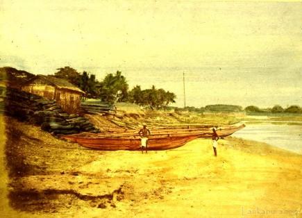 Sinhalese boats Ceylon