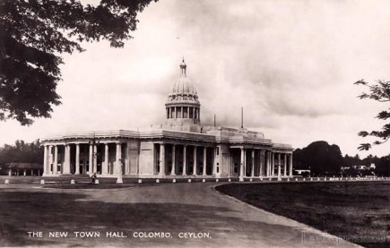 The New Town Hall, Colombo Ceylon - 1940s