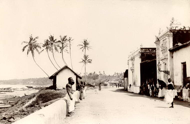 A scene by the shore in Colombo, Ceylon 1878 - 1882.
