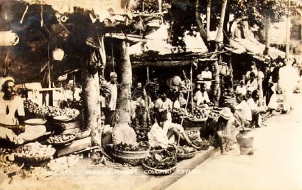 Vegetable Stalls at Borella Market Colombo Ceylon 1938