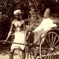 A rickshaw driver & his passenger at Kandy, Ceylon 1880 – 1890