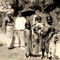 Natives on the road at Kandy, Ceylon 1937