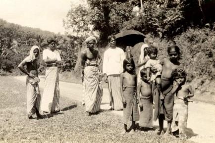 Natives on the road at Kandy, Ceylon 1937