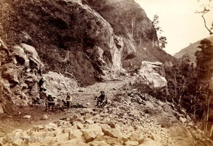 Undergoing constructions of Colombo - Kandy Railway Line 1860