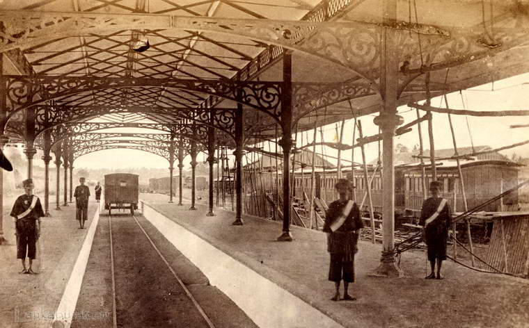 Colombo Central Railway Station, Ceylon 1880 to 1890