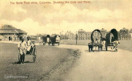 The Galle Face drive, Colombo, Showing the Club and Hotel, Ceylon
